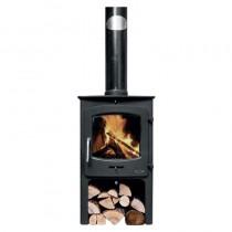 Henley Oxford 7.5kw Non Boiler c/w Log Box Matt Black