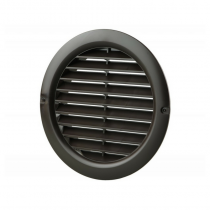 Wall Vent Round 100mm With Flyscreen Black