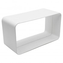 Flat Channel Straight Connector 100mm x 50mm White