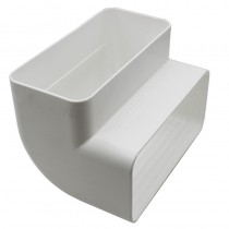Flat Channel Vertical Bend 90 Degree 100x50mm White