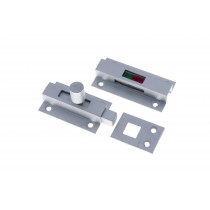 Indicator Slide Bolt ( Red/Green Indicator/ Toilet Door) Satin Aluminium