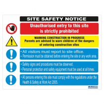 Site Safety Notice 610x810mm