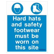 Hard Hat & Footwear Safety Sign