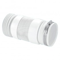 McAlpine Flexible Back To Wall Pan Connector C/W Jubilee Clip (150-310mm)
