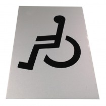 "Sign ""DISABLED"" Self Adhesive 150x100mm ***"