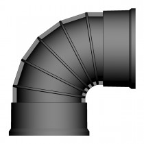 Twinwall Bend 150mm x 30D