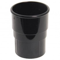 Round Downpipe Connector Black