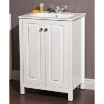 Kingston 60 Chalk White Vanity Unit & Toledo Basin