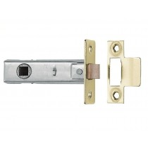 "Tubular Mortice Latch -2.5"" Clam Brass"