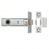 "Tubular Mortice Latch -2.5"" Clam Chrome"