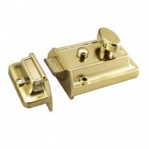 Rim Cylinder Nightlatch (60mm) c/w Brass CYL
