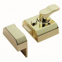 Nightlatch Double Locking Narrow Operation E.Brass