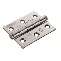 Euro spec BZP Hinge Fire Rated 100mm x 76mm x 2.5mm Plain Bearing Hinge - Grade 7 CE Marked BZP Pair