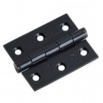 Euro spec BLK Hinge Fire Rated 100mmx76mmx2.5mm Plain Bearing Hinge - Grade 7 CE Marked BLK Pair