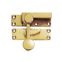 Sash Fastener Polished Brass - Quadrant Arm 70 x 20mm
