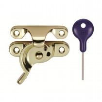 Sash Fastener Polished Brass - Fitch Pattern 64 x 25mm