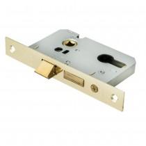 Euro Profile Cylinder Sashlock Case 75mm Electro Brass