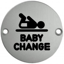 Baby Changing Symbol 75mm Disc SSS
