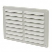 Louvre Vent 229mm x 152mm White