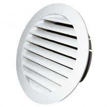 Louvre Vent Round 100mm White