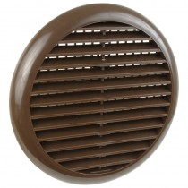 Louvre Vent Round with Flyscreen 80mm -150mm Brown