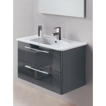 Mara Gloss Grey 80cm Vanity Unit 2 Drawer and Basin