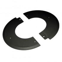 Pellet Twin Wall 150mm Rosette Plate 90 Deg -split