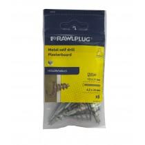 Rawl Trade Metal Self Drill Plasterboard Fixing (6pcs)