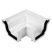 Ogee Gutter Angle 90 Degree White - Universal