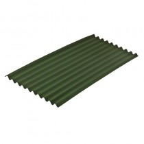 Onduline Standard Green Sheet 2.0Mt Long x 0.95Mt (1.9mt x 0.855mt Cover)