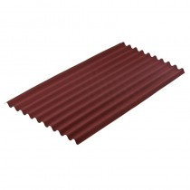 Onduline Standard Red Sheet 2.0Mt Long x 0.95Mt (1.9mt x 0.855mt Cover)