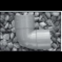 "PVC 50mm 1 1/2"" Grey Waste 90 Bend"