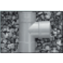"PVC 40mm 1 1/4"" Grey Waste Tee"