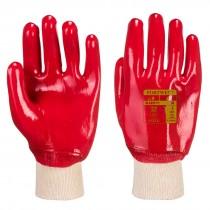 Portwest Red PVC Knitwrist Glove Large RG40