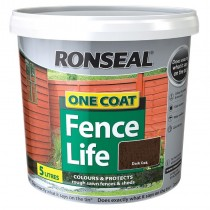 Ronseal One Coat Fencelife 5L Dark Oak