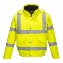 Portwest Hi-Vis Bomber Jacket Yellow Large