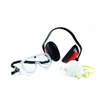Worker Protection Kit (Ear Muffs, Goggles , Dust Mask)