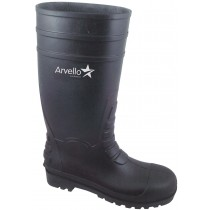 ABC Steel Toe Wellington Boots Size 8