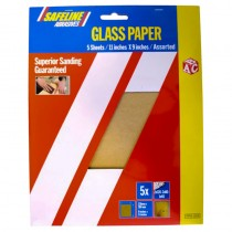 Sand/Glass Paper Sheets Assorted Grade (5)
