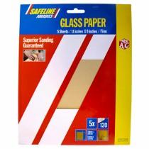 Sand/Glass Paper Sheets Fine Grade (5)
