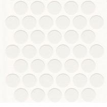 Self Adhesive Screw Caps White (100)