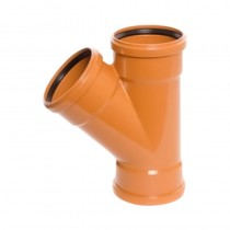 Sewer Y 45 Degree Triple Socket 110mm