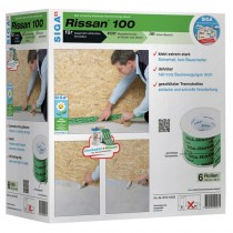 Siga Rissan 100 Adhesive Tape 100mm x 25m Green