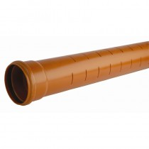 Socketed Sewer Pipe Standard 110mm x 6M (2.6mm wall thickness)