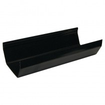 Square Gutter 4m Black