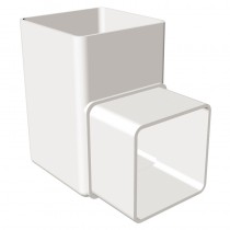 Square Offset Bend 90 Degree White
