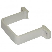Square Pipe Clip White (Flush)