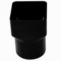 Square to Round Downpipe Adaptor Black