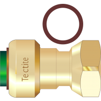 Tectite Straight Tap Connector 1/2""