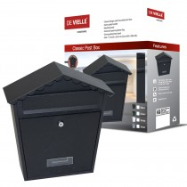Classic Post Box Black (Wall Mounted)